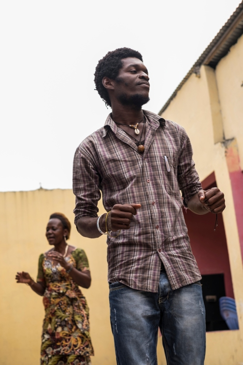 Jocelyn Balu, young singer of the congolese rumba pionners ©Eloisa d'Orsi